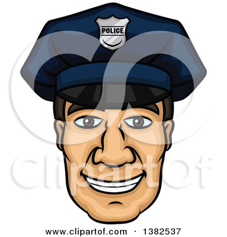 Police officer face clipart image black and white stock Royalty-Free (RF) Police Man Clipart, Illustrations, Vector ... image black and white stock
