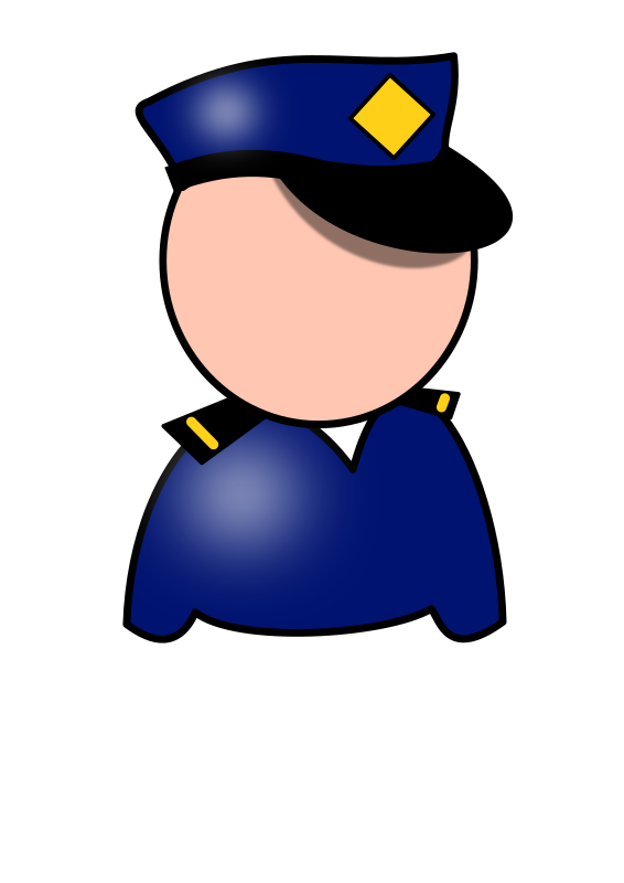 Police officer face clipart clip black and white Policeman Clipart - Clipart Kid clip black and white