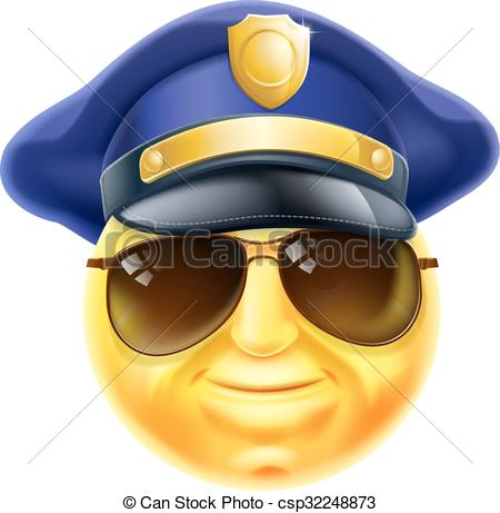 Police officer face clipart vector download Police officer emoticon Stock Illustrations. 10 Police officer ... vector download