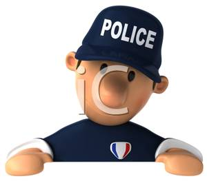 Police officer face clipart transparent library Face of a 3D Police Officer Clip Art Image transparent library