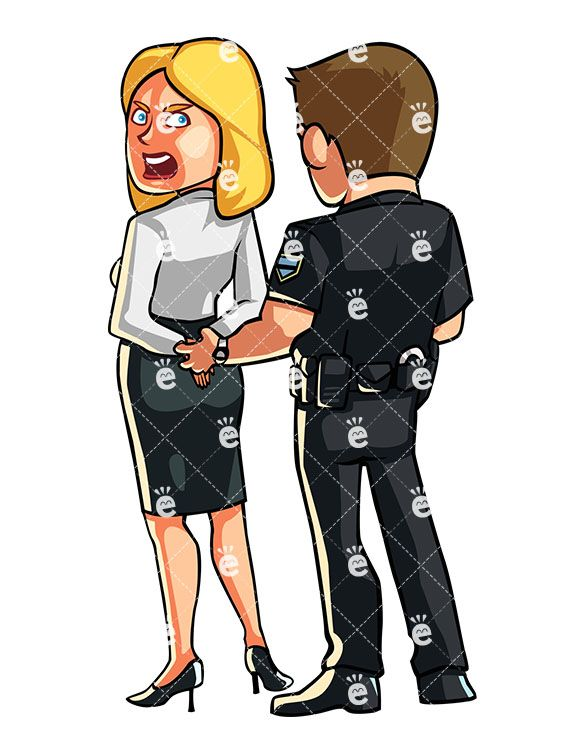 Police officer with hands clipart arrests somone with red face vector free library Police Officer Handcuffing A Protesting Woman | Cartoons in ... vector free library