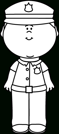 Police officer with kids clipart black and white clip black and white stock Police Officer Clipart Black And White | Writings and Essays ... clip black and white stock