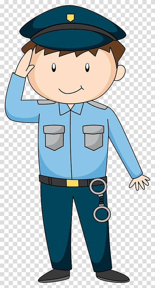 Students saluting clipart banner freeuse Police art, Police officer Cartoon Illustration, Police ... banner freeuse