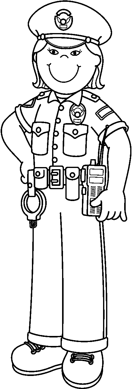 Police officer with kids clipart black and white clip free library Free Police Officer Clip Art Black And White, Download Free ... clip free library