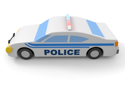 Police patrol car clipart clip freeuse stock Police vehicle - Illustration - Free material clip freeuse stock