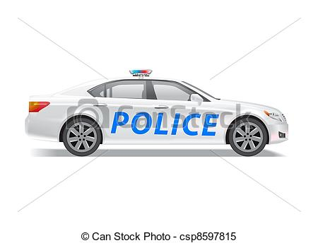 Police patrol car clipart jpg library library Stock Illustrations of Police patrol car - Photo realistic police ... jpg library library