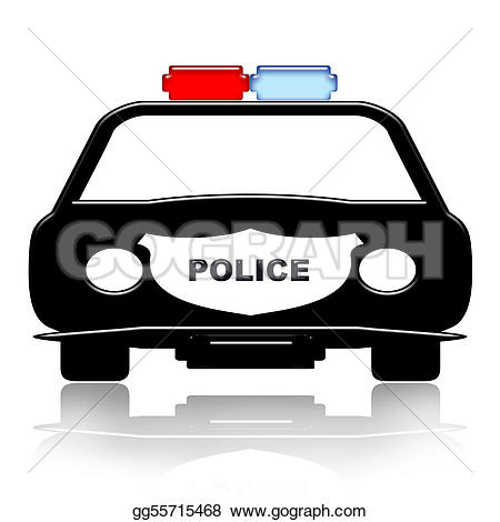Police patrol car clipart free library Drawing - Police car. Clipart Drawing gg55715468 - GoGraph free library