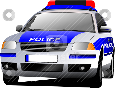 Police patrol car clipart banner library stock Police car. Municipal transport. Colored vector illustration ... banner library stock
