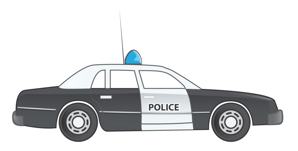 Police patrol car clipart image black and white Collection of 28 Police Car Clipart Images - Free Clipart Graphics ... image black and white