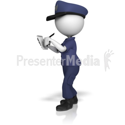 Police powerpoint backgrounds clipart vector transparent Police Officer Writing On Notepad - Presentation Clipart ... vector transparent