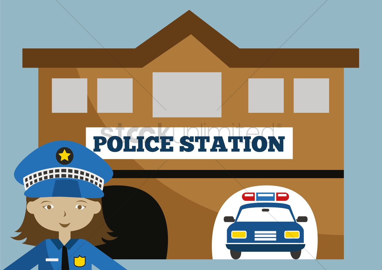 Police station building clipart png library Police station Vector Image - 1395653 | StockUnlimited png library