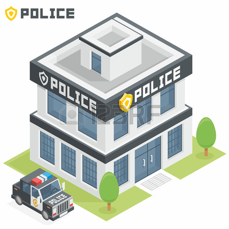 Police station building clipart png freeuse library Police Department Building Royalty Free Cliparts, Vectors, And ... png freeuse library