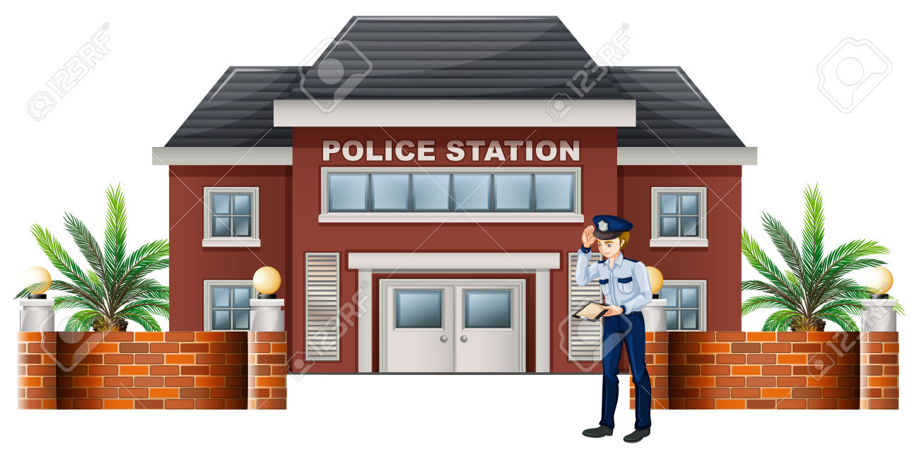 Police station building clipart vector transparent library 1,552 Police Station Cliparts, Stock Vector And Royalty Free ... vector transparent library