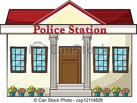 Police station building clipart png black and white Police station Stock Illustrations. 1,314 Police station clip art ... png black and white
