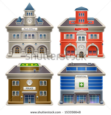 Police station building clipart banner library library Police Station Building Stock Photos, Royalty-Free Images ... banner library library