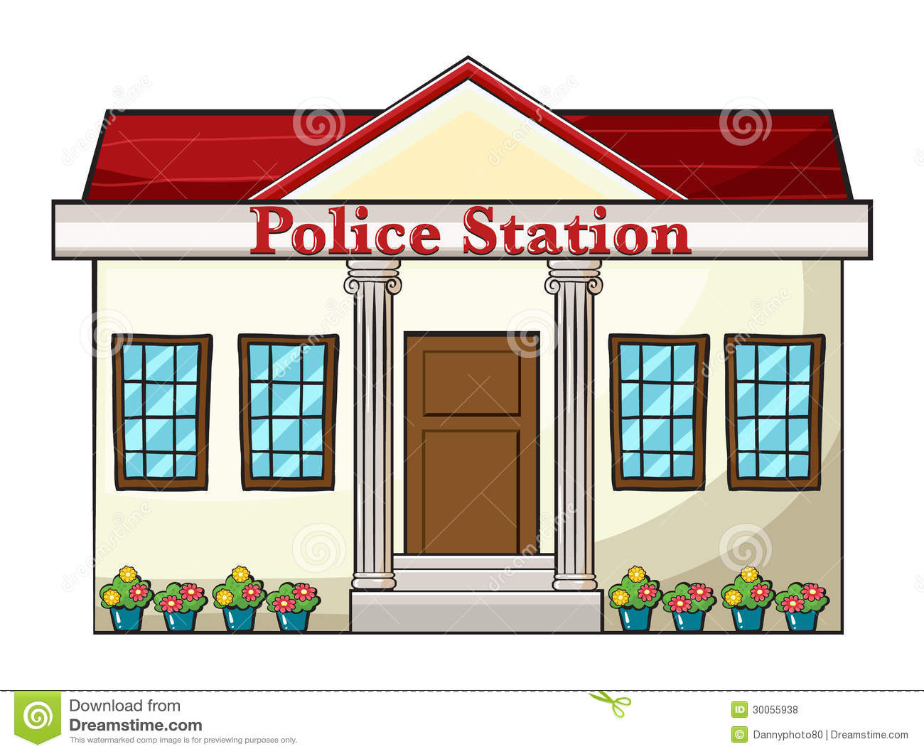 Police station building clipart banner freeuse stock Police Station Clip Art & Police Station Clip Art Clip Art Images ... banner freeuse stock