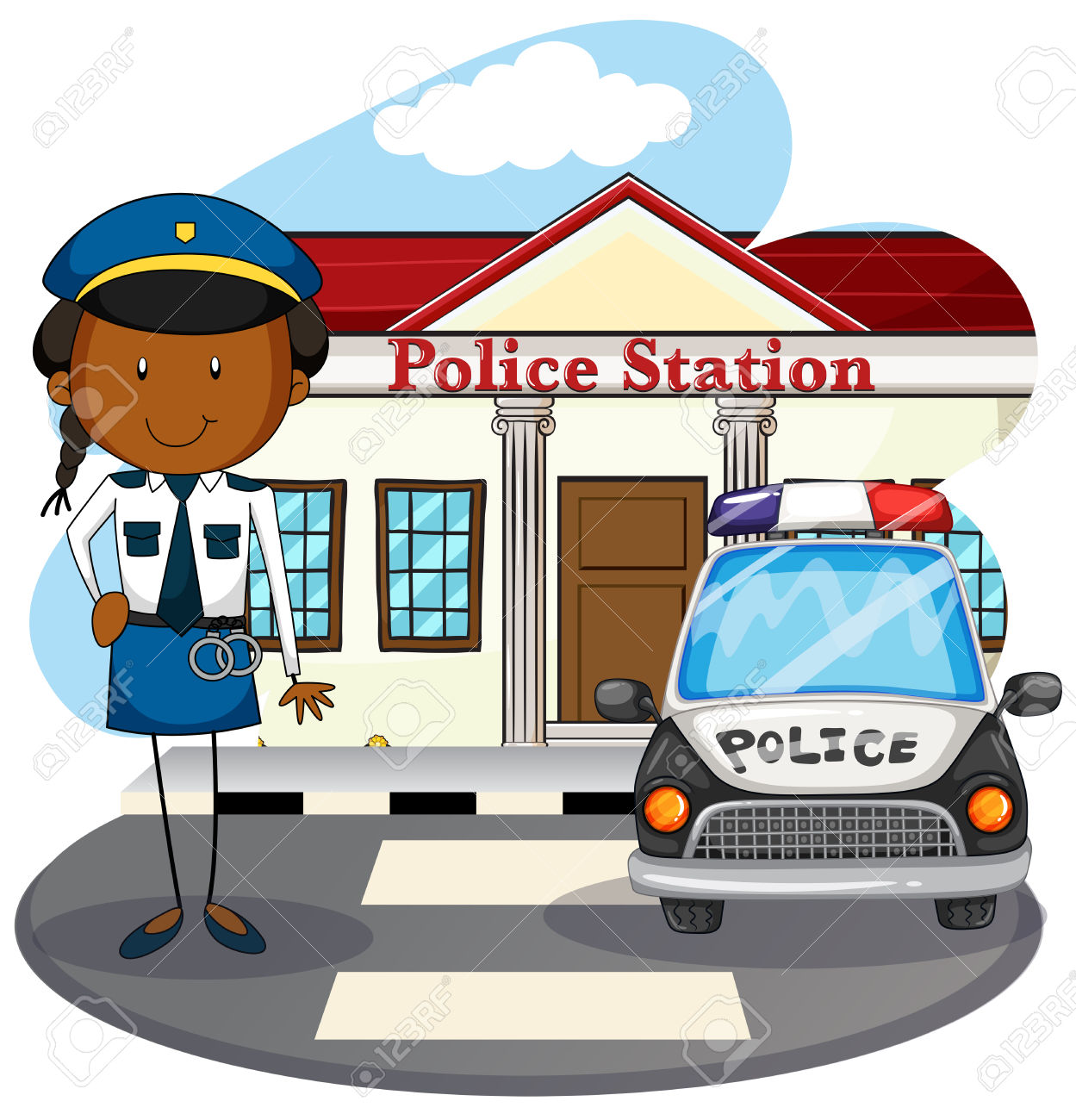 Police station with police car clipart svg download Police Station Clipart & Police Station Clip Art Images ... svg download