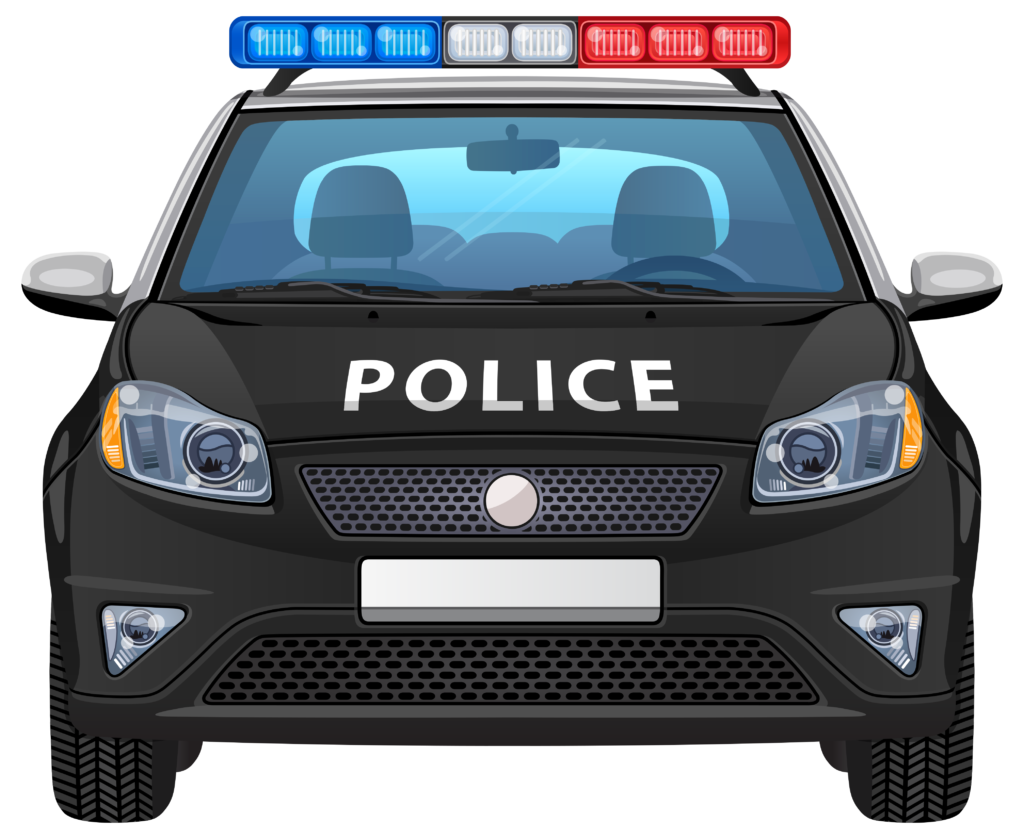 Police station with police car clipart clip black and white Collection of 28 Police Car Clipart Images - Free Clipart Graphics ... clip black and white