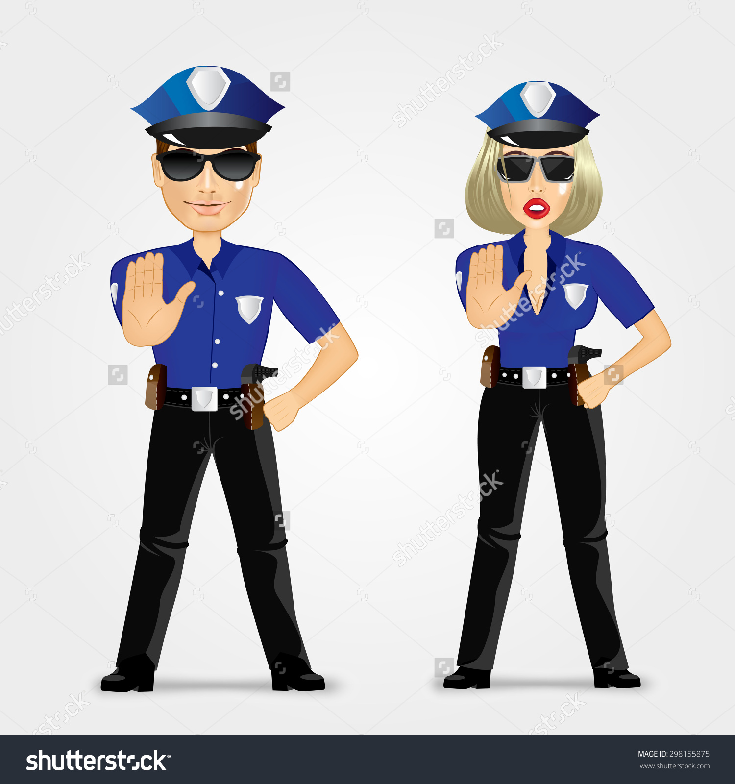 Police traffic woman clipart svg black and white Free clipart police woman - ClipartFest svg black and white
