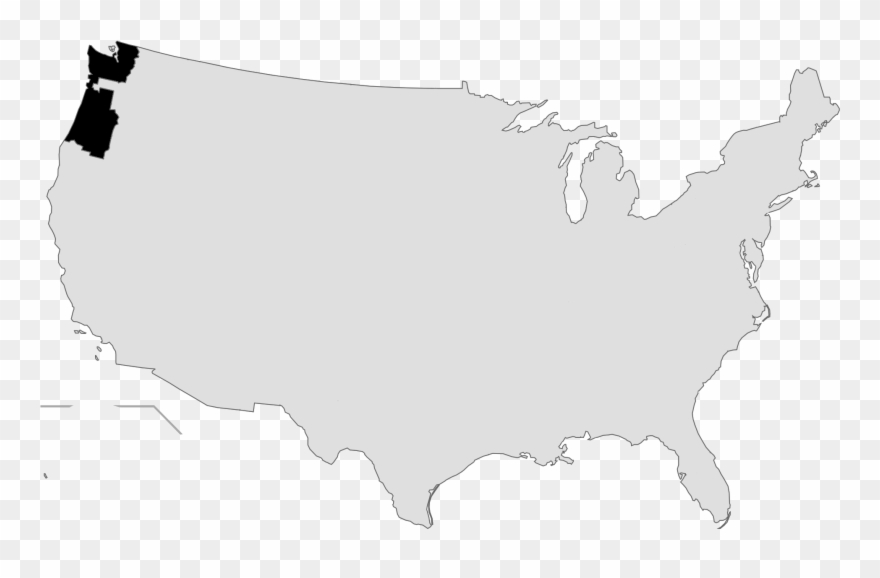 Political geography clipart picture black and white download Cascadia Map Us - Political Geography Of Campaign Finance ... picture black and white download