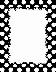 Polka dot border clipart black and white banner free Black and white polka dot border - 15 colors available ... banner free