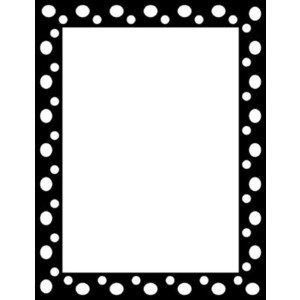 Polka dot border clipart black and white image black and white library Free Black Dot Cliparts, Download Free Clip Art, Free Clip ... image black and white library
