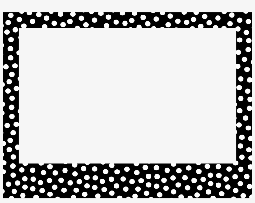 Polka dot border clipart black and white image royalty free Dotted Border Png PNG Images | PNG Cliparts Free Download on ... image royalty free