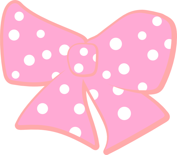 Polka dot heart clipart picture royalty free download Bow With Polka Dots Clip Art at Clker.com - vector clip art online ... picture royalty free download
