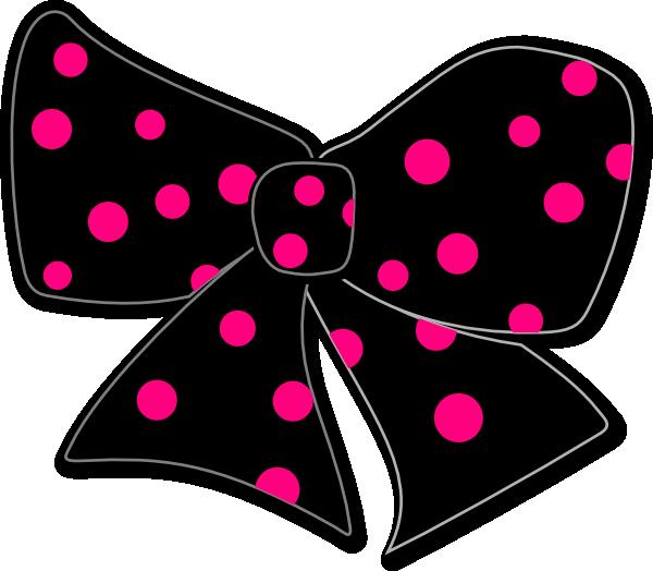 Polka dot heart clipart clipart transparent Bow With Polka Dots Clip Art at Clker.com - vector clip art online ... clipart transparent