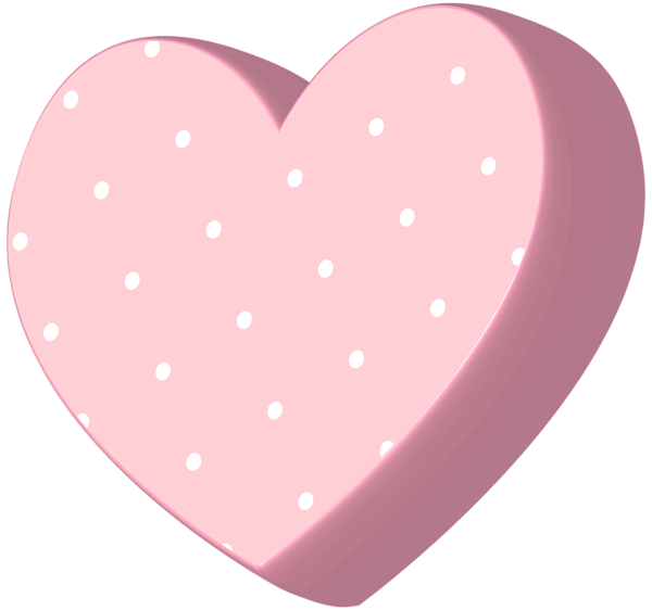 Polka dot heart clipart banner library Heart Soft Pink Transparent PNG Clip Art | Gallery Yopriceville ... banner library