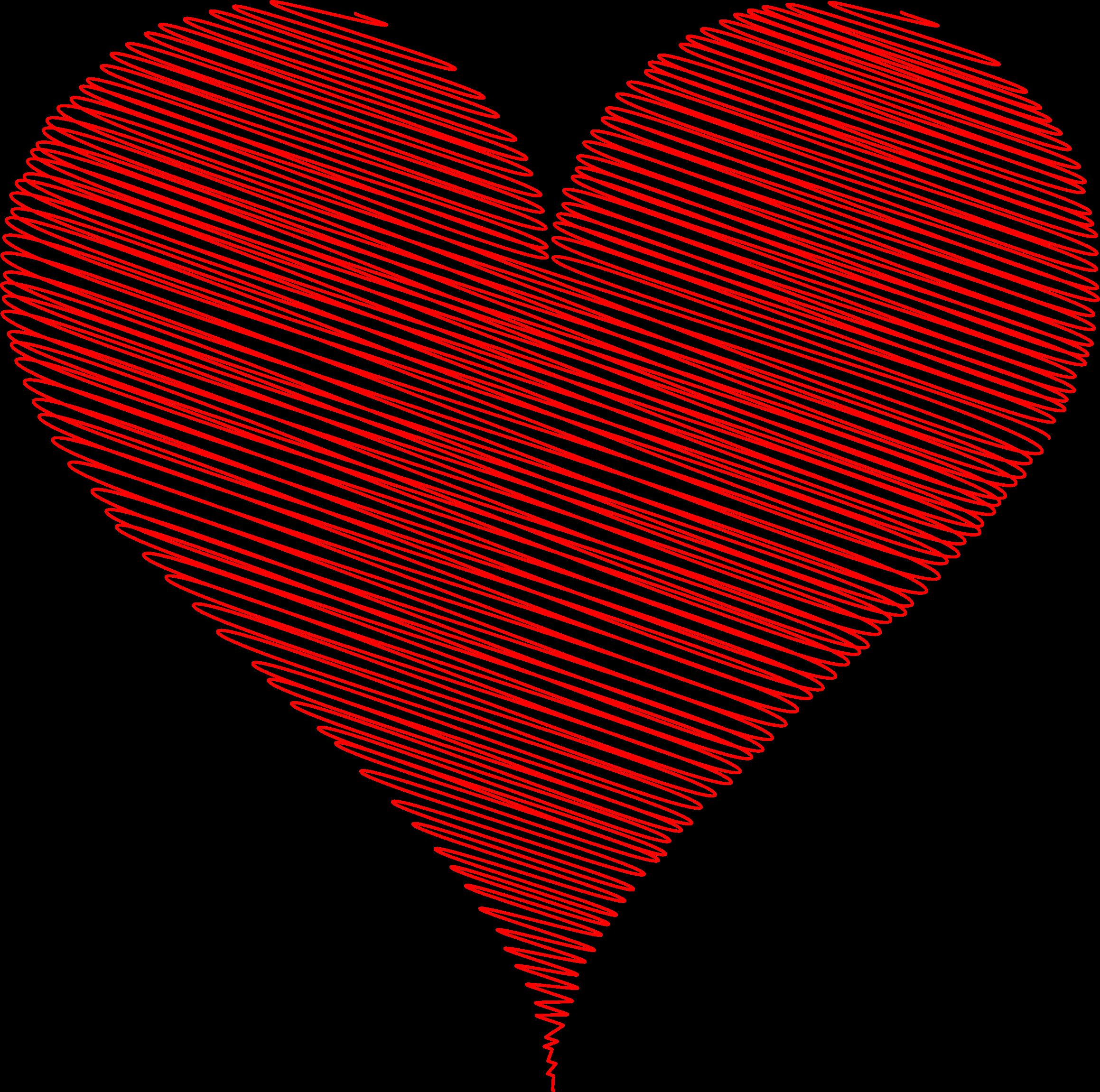 Polka dot heart clipart jpg free Clipart - Scribbled Heart jpg free