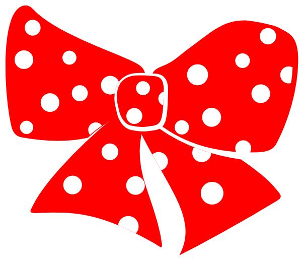 Polka dot heart clipart clip library download Bow With Polka Dots Clip Art at Clker.com - vector clip art online ... clip library download