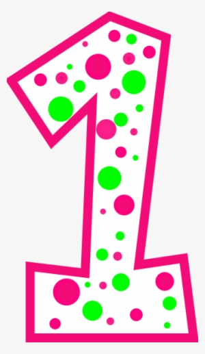 Polka Dot Number One Png & Free Polka Dot Number One.png ... clip art free library