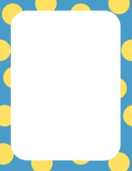 Polka dot pattern clipart image library 50 Colorful Borders + Frames Clipart - Polka Dot Pattern Borders image library