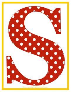 Polkadot letter s clipart image black and white download Polka Dot Letters - Uppercase S - Alphabet Letters | A Wellspring image black and white download