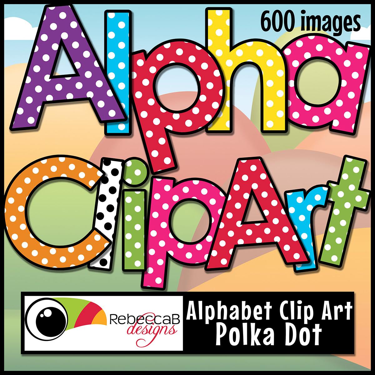 Polkadot letter s clipart clipart black and white stock Alphabet Letters Clip Art - Polka Dot clipart black and white stock