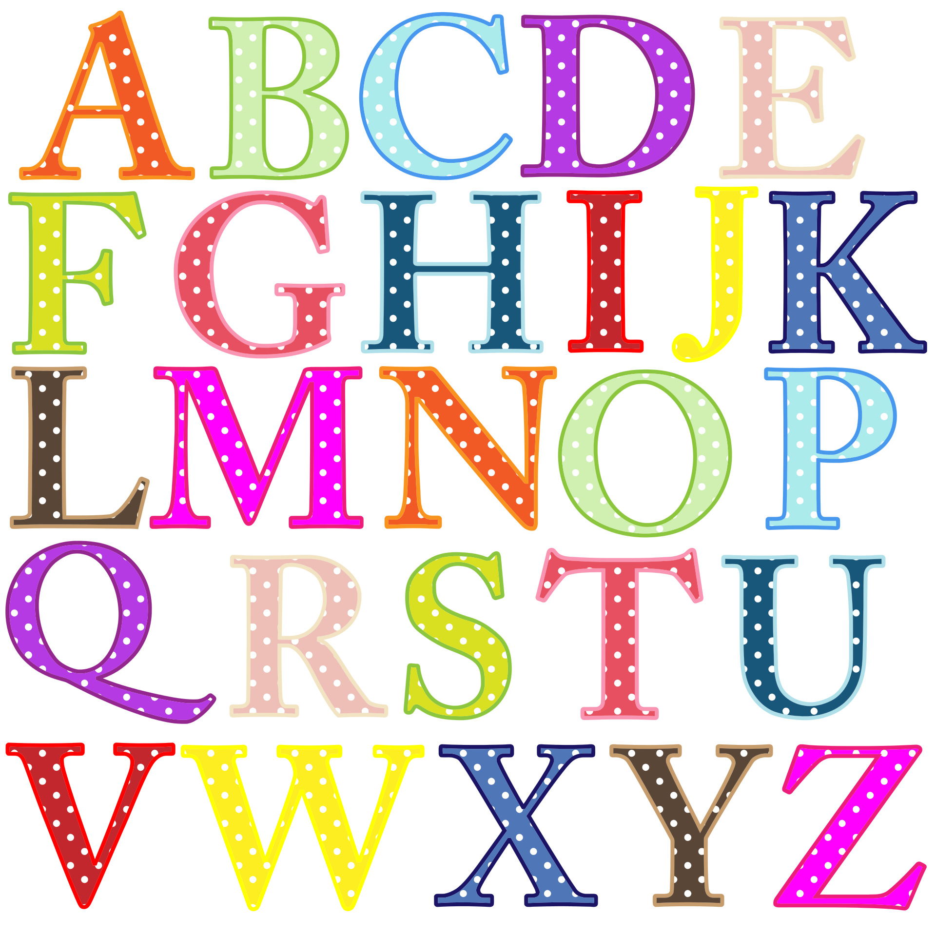 Polkadot letter s clipart library Polka Dot Numbers Clipart - Clipart Kid library