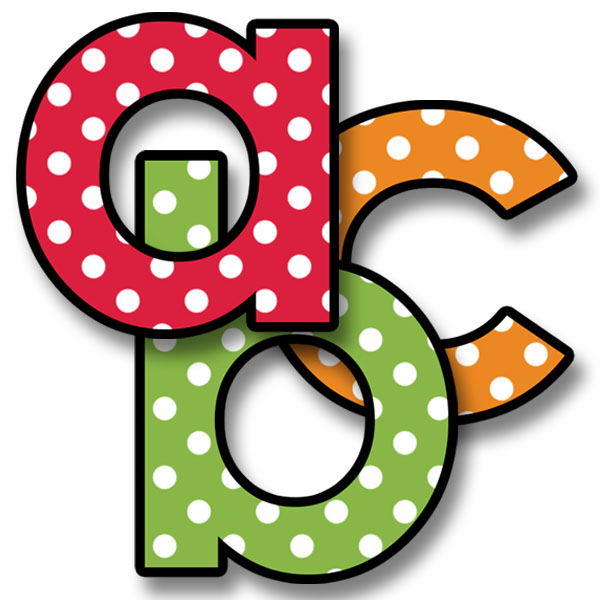 Polkadot letter s clipart png library library Alphabet Letters Clip Art - Polka Dot png library library