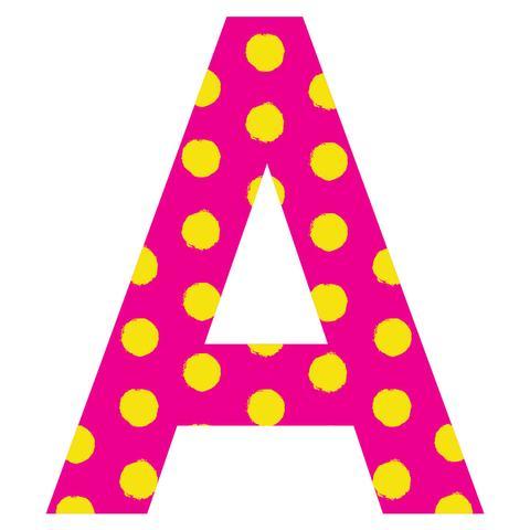 Polkadot letter s clipart vector library download Patterned Letters vector library download
