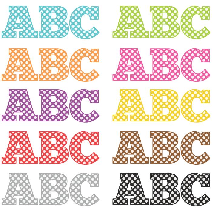 Polkadot letter s clipart clip black and white library Art Alphabet 260 Polka Dot Letters clip black and white library