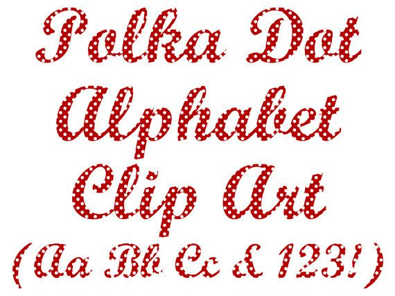Polkadot letter s clipart royalty free download Polka Dot Alphabet Clipart, Polka Dot Letters and Numbers Clip Art ... royalty free download