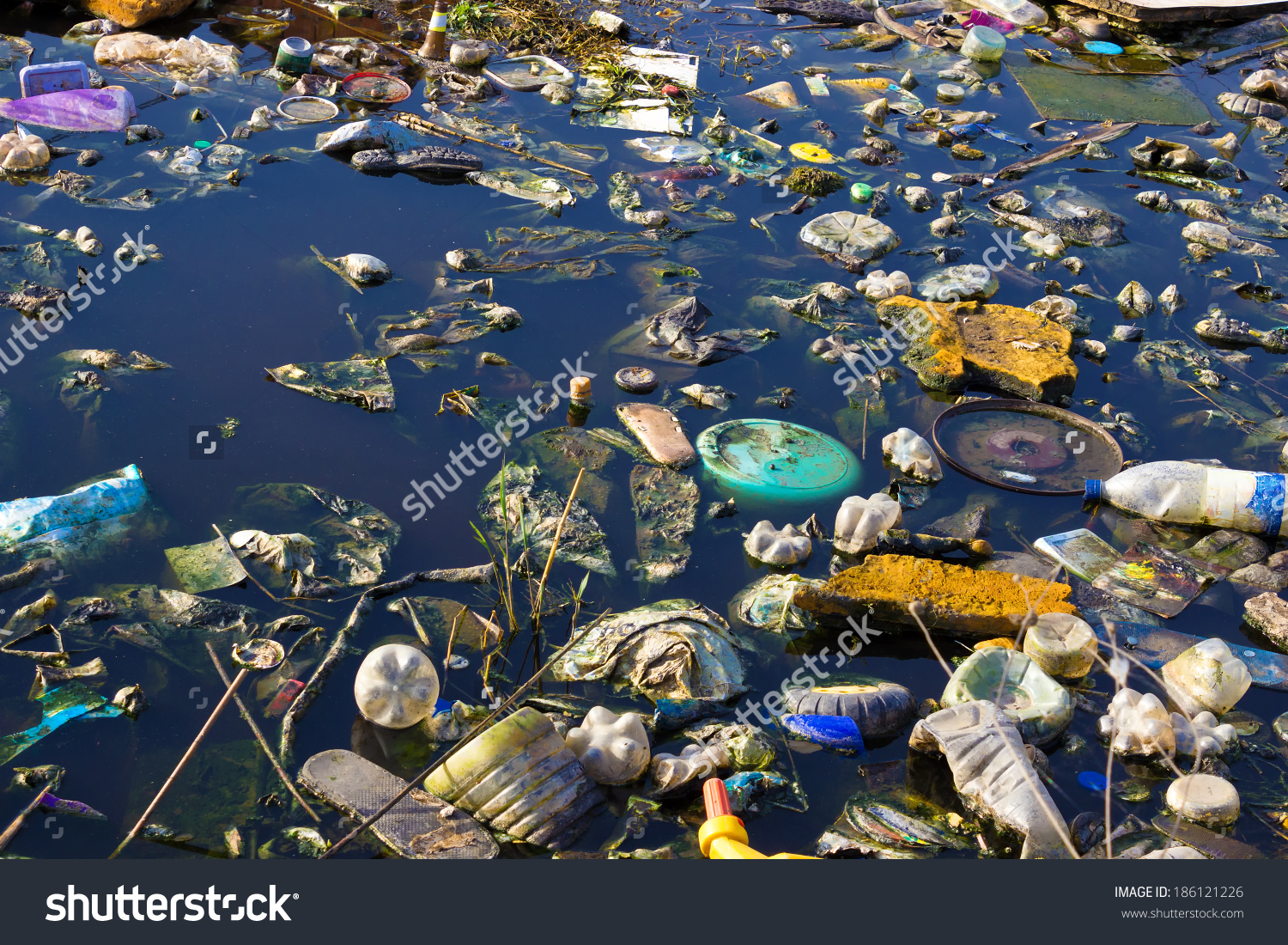 Polluted river clipart free download River That Polluted Various Garbage Trash Stock Photo 186121226 ... free download