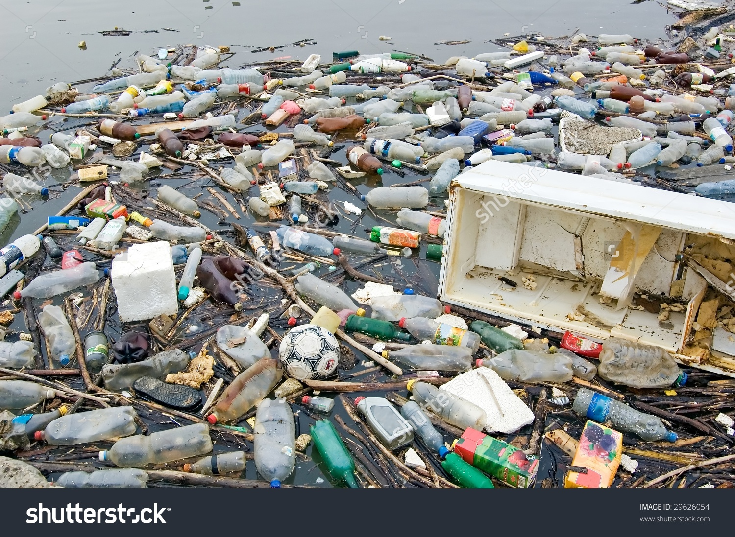 Polluted river clipart clip freeuse download Photograph Polluted River Full Rubbish Showing Stock Photo ... clip freeuse download