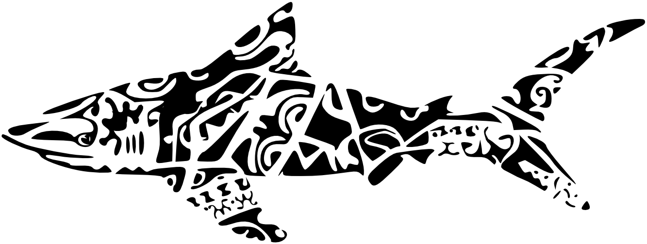 Waves tattoo polynesian clipart clip art black and white stock polynesian designs and patterns | Pin Maori Shark Clipart In ... clip art black and white stock