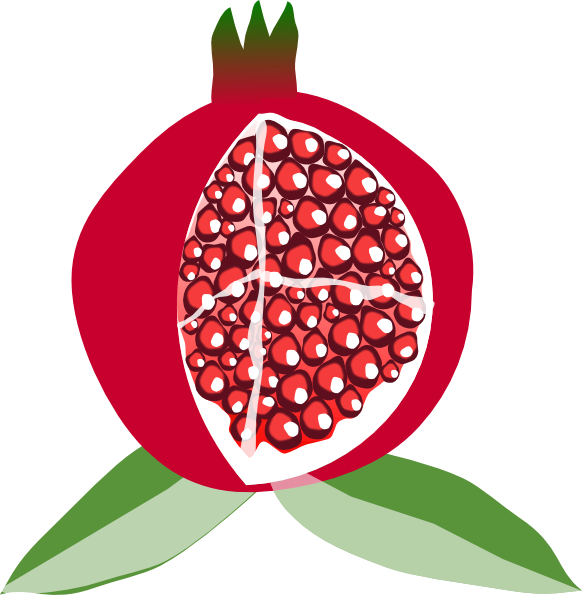 Pomegranate tree clipart graphic royalty free Pomegranate Fruit Clip Art at Clker.com - vector clip art online ... graphic royalty free