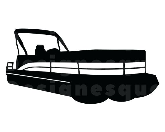 Pontoon boat silouette clipart black and white svg freeuse library Pontoon Boat Clipart Pin 7 – FallFashion svg freeuse library