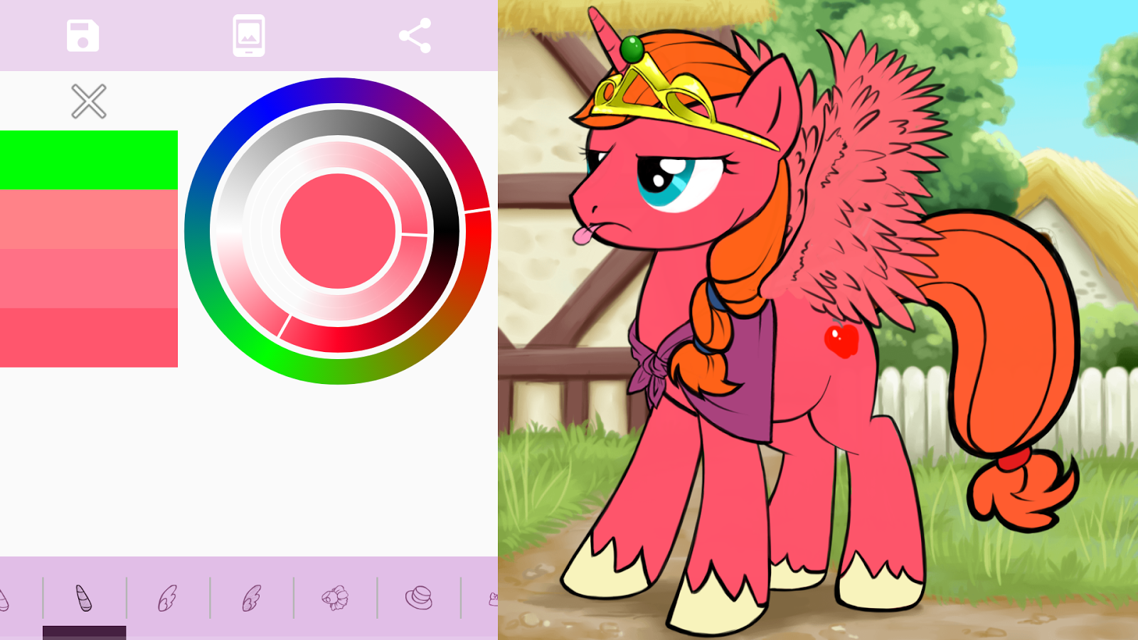 Pony creator vector free stock Equestria Daily - MLP Stuff!: A New Pony Creator App Appears for ... vector free stock
