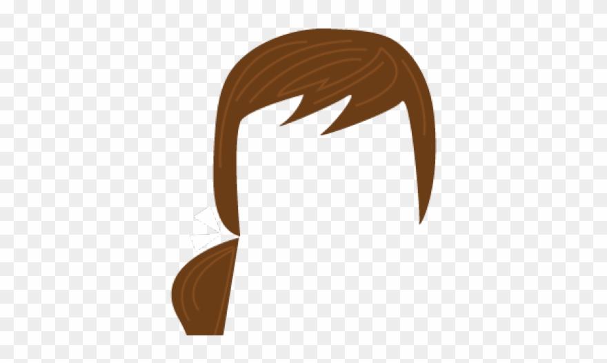 Ponytail hair clipart png transparent download Brown Hair Clipart Ponytail - Brown Hair Ponytail Clipart ... png transparent download