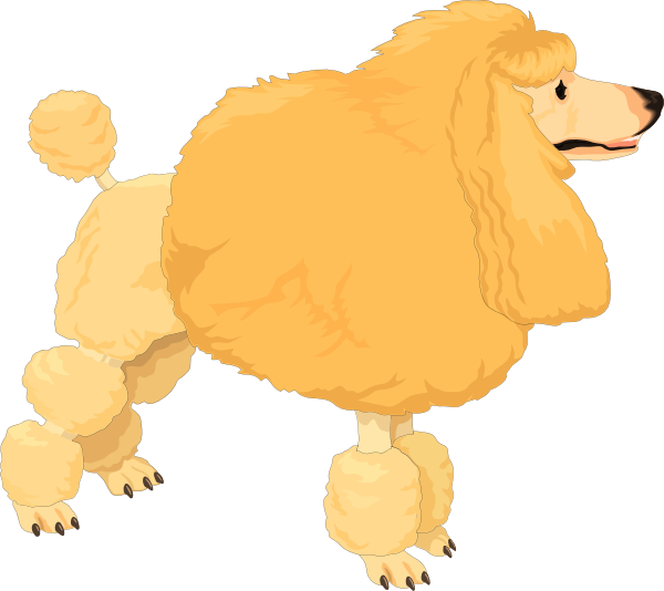 Poodle dog clipart download Fluffy Yellow Poodle Clip Art at Clker.com - vector clip art online ... download
