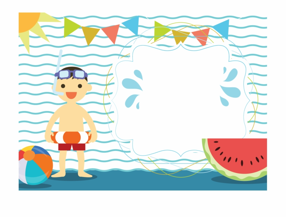 Pool background clipart png library stock Summer Clipart Swimming Pool - Boy Pool Party Invitation ... png library stock